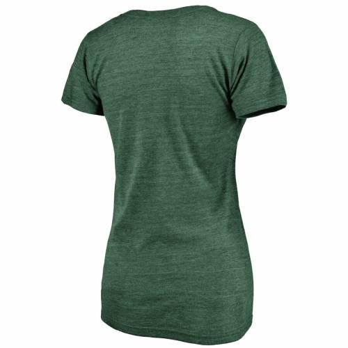 FANATICS BRANDED オークランド レディース ブイネック Tシャツ WOMEN'S WE'RE 【 OAKLAND ATHLETICS ON TOP TRIBLEND VNECK TSHIRT GREEN 】 レディースファッション トップス カットソー 送料無料