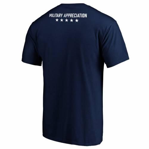 FANATICS BRANDED Tシャツ 紺 ネイビー メンズファッション トップス カットソー メンズ 【 Ole Miss Rebels Military Appreciation T-shirt - Navy 】 Navy