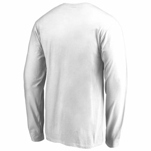 FANATICS BRANDED ブリガムヤング スリーブ Tシャツ 白 ホワイト メンズファッション トップス カットソー メンズ 【 Byu Cougars Proud Mascot Long Sleeve T-shirt - White - 】 White