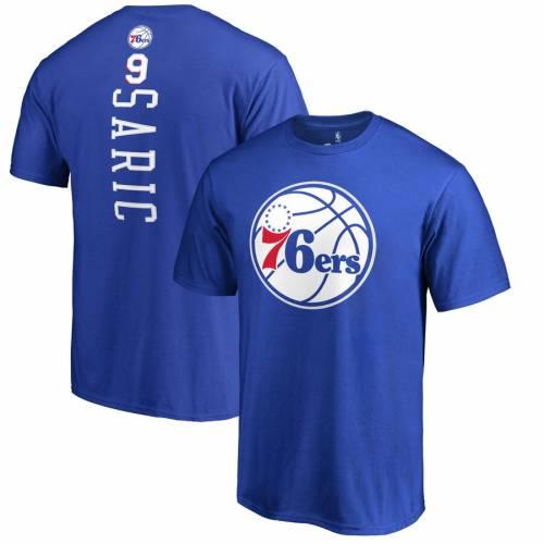 FANATICS BRANDED フィラデルフィア セブンティシクサーズ Tシャツ メンズファッション トップス カットソー メンズ 【 Dario Saric Philadelphia 76ers Backer Name And Number T-shirt - Royal 】 Royal