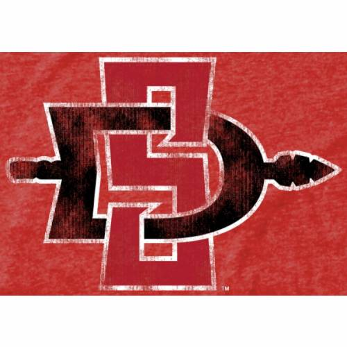 FANATICS BRANDED スケートボード クラシック Tシャツ メンズファッション トップス カットソー メンズ 【 San Diego State Aztecs Classic Primary Tri-blend T-shirt - Scarlet 】 Scarlet