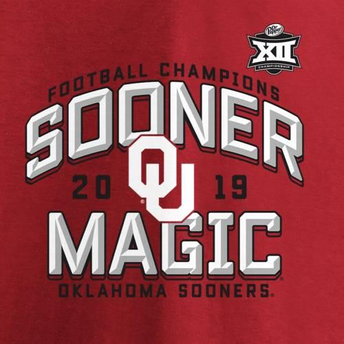 FANATICS BRANDED Tシャツ メンズファッション トップス カットソー メンズ 【 Oklahoma Sooners 2019 Big 12 Football Champions Homefield T-shirt - Crimson 】 Crimson