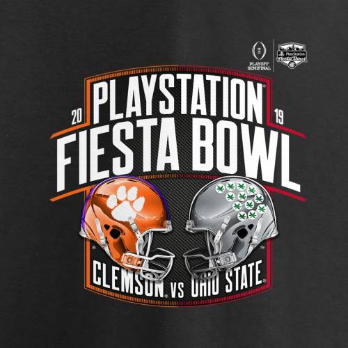 FANATICS BRANDED タイガース オハイオ スケートボード カレッジ スリーブ Tシャツ 黒 ブラック VS. 【 STATE SLEEVE BLACK FANATICS BRANDED CLEMSON TIGERS OHIO BUCKEYES COLLEGE FOOTBALL PLAYOFF 2019 FIESTA BOWL MATCHUP DOW