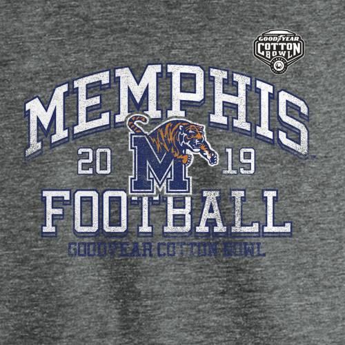 FANATICS BRANDED メンフィス タイガース ラグラン スリーブ Tシャツ ヘザー 灰色 グレー グレイ メンズファッション トップス カットソー メンズ 【 Memphis Tigers 2019 Cotton Bowl Bound Hashmark Tri-ble