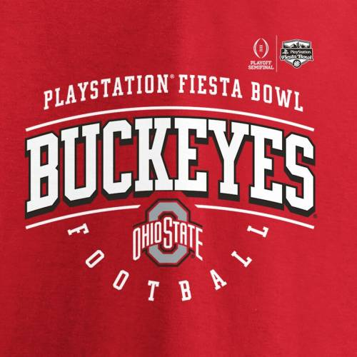 FANATICS BRANDED オハイオ スケートボード カレッジ Tシャツ 【 STATE FANATICS BRANDED OHIO BUCKEYES COLLEGE FOOTBALL PLAYOFF 2019 FIESTA BOWL BOUND PRIMARY TACKLE TSHIRT SCARLET 】 メンズファッション トップス Tシャ