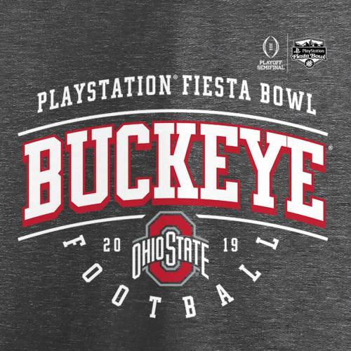 FANATICS BRANDED オハイオ スケートボード カレッジ スリーブ ラグラン Tシャツ ヘザー 灰色 グレー グレイ 【 STATE SLEEVE RAGLAN HEATHER GRAY FANATICS BRANDED OHIO BUCKEYES COLLEGE FOOTBALL PLAYOFF 2019 FIESTA BOWL