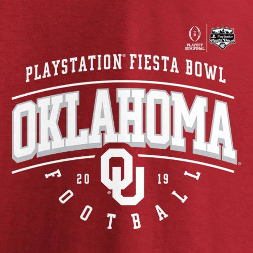 FANATICS BRANDED カレッジ スリーブ Tシャツ 【 SLEEVE FANATICS BRANDED OKLAHOMA SOONERS COLLEGE FOOTBALL PLAYOFF 2019 PEACH BOWL BOUND PRIMARY TACKLE LONG TSHIRT CRIMSON 】 メンズファッション トップス Tシャツ カット
