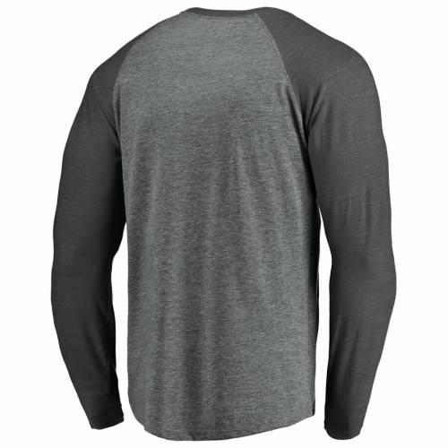 FANATICS BRANDED カレッジ スリーブ ラグラン Tシャツ ヘザー 灰色 グレー グレイ メンズファッション トップス カットソー メンズ 【 Oklahoma Sooners College Football Playoff 2019 Peach Bowl Bound Hashmark