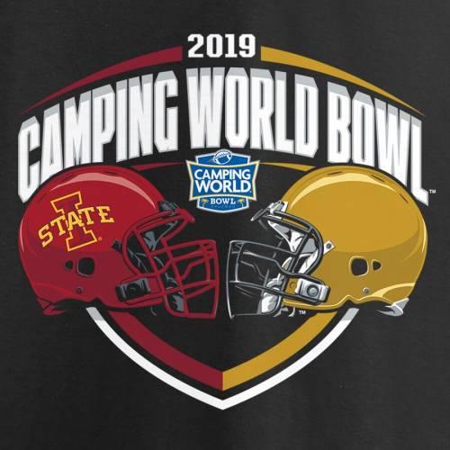 FANATICS BRANDED スケートボード Tシャツ 黒 ブラック Vs. メンズファッション トップス カットソー メンズ 【 Notre Dame Fighting Irish Vs. Iowa State Cyclones 2019 Camping World Bowl Matchup Slant T-shirt - Black