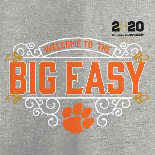 FANATICS BRANDED タイガース カレッジ Tシャツ ヘザー 【 HEATHER CLEMSON TIGERS COLLEGE FOOTBALL PLAYOFF 2020 NATIONAL CHAMPIONSHIP BOUND POST TSHIRT GRAY 】 メンズファッション トップス カットソー 送料無料