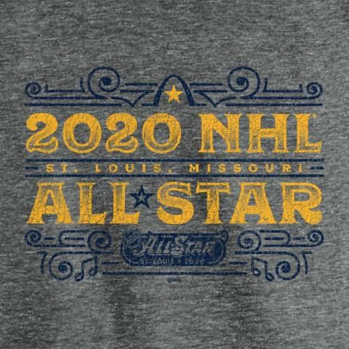 FANATICS BRANDED ゲーム ラグラン スリーブ Tシャツ ヘザー 灰色 グレー グレイ メンズファッション トップス カットソー メンズ 【 2020 Nhl All-star Game Delmar Loop Tri-blend Raglan Long Sleeve T-shirt - He