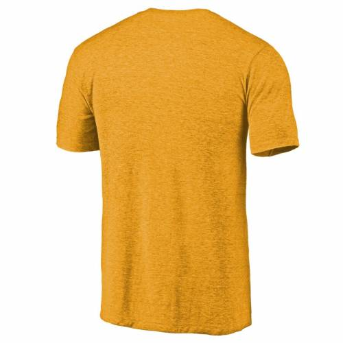 FANATICS BRANDED ラムズ ロゴ Tシャツ 【 VCU RAMS LEFT CHEST DISTRESSED LOGO TRIBLEND TSHIRT GOLD HEATHERED 】 メンズファッション トップス カットソー 送料無料