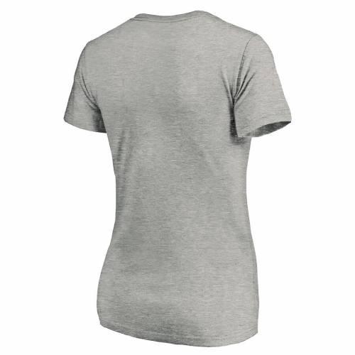 FANATICS BRANDED レディース スプリング トレーニング ブイネック Tシャツ WOMEN'S 【 SPRING 2020 MLB TRAINING GRAPEFRUIT LEAGUE SCORING POSITION VNECK TSHIRT HEATHERED GRAY 】 レディースファッション トップス カ