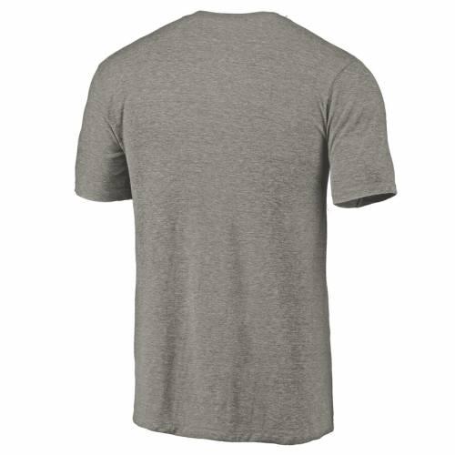 FANATICS BRANDED スケートボード ロゴ Tシャツ 灰色 グレー グレイ メンズファッション トップス カットソー メンズ 【 Fresno State Bulldogs Left Chest Distressed Logo Tri-blend T-shirt - Gray Heathered 】 Gray