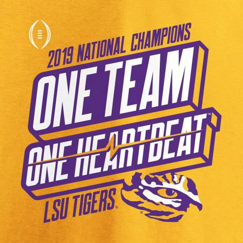 FANATICS BRANDED タイガース カレッジ Tシャツ 【 FANATICS BRANDED LSU TIGERS COLLEGE FOOTBALL PLAYOFF 2019 NATIONAL CHAMPIONS HOMETOWN TSHIRT GOLD 】 メンズファッション トップス Tシャツ カットソー
