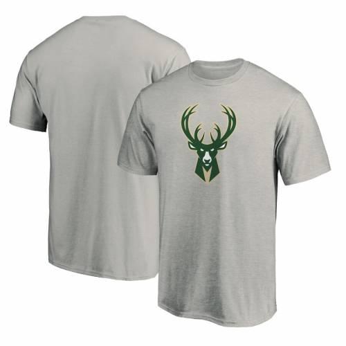 FANATICS BRANDED ミルウォーキー バックス チーム ロゴ Tシャツ 白 ホワイト メンズファッション トップス カットソー メンズ 【 Milwaukee Bucks Primary Team Logo T-shirt - White 】 Heather Gray