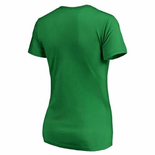 FANATICS BRANDED ボストン レディース ブイネック Tシャツ WOMEN'S ST. PATRICK'S 【 BOSTON BRUINS DAY TULLAMORE VNECK TSHIRT GREEN 】 レディースファッション トップス カットソー 送料無料