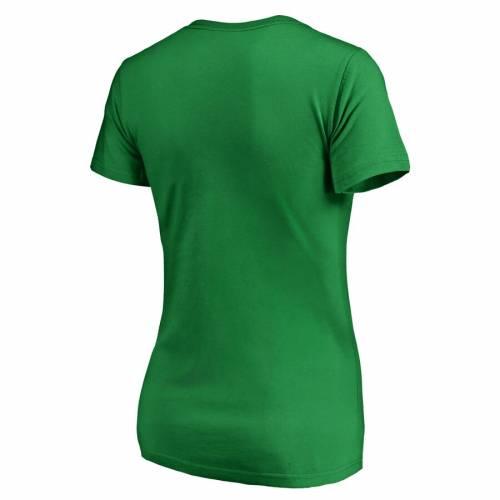 FANATICS BRANDED フィラデルフィア レディース 白 ホワイト ロゴ ブイネック Tシャツ WOMEN'S ST. PATRICK'S 【 WHITE PHILADELPHIA FLYERS DAY LOGO VNECK TSHIRT GREEN 】 レディースファッション トップス カット