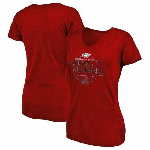 FANATICS BRANDED アリゾナ ダイヤモンドバックス スプリング トレーニング Tシャツ 赤 レッド 【 SPRING RED FANATICS BRANDED ARIZONA DIAMONDBACKS 2020 TRAINING ROUND TRIP TRIBLEND TSHIRT 】 メンズファッション