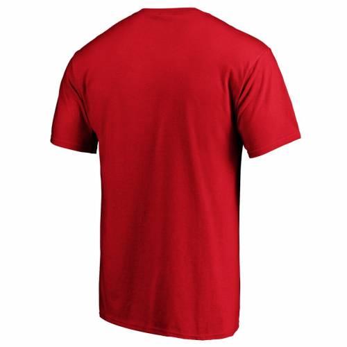 FANATICS BRANDED アトランタ ブレーブス スプリング トレーニング Tシャツ 赤 レッド 【 SPRING RED FANATICS BRANDED ATLANTA BRAVES 2020 TRAINING LINE DRIVE TSHIRT 】 メンズファッション トップス Tシャツ カ
