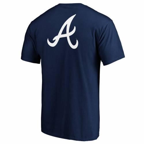 FANATICS BRANDED アトランタ ブレーブス チーム ロゴ ゲーム Tシャツ 紺 ネイビー メンズファッション トップス カットソー メンズ 【 Atlanta Braves Team Logo End Game T-shirt - Navy 】 Navy