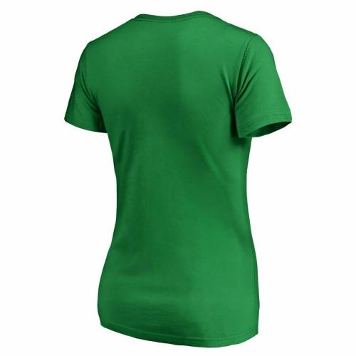 FANATICS BRANDED ポートランド レディース 白 ホワイト ロゴ ブイネック Tシャツ WOMEN'S ST. PATRICK'S 【 WHITE PORTLAND TRAIL BLAZERS DAY LOGO VNECK TSHIRT GREEN 】 レディースファッション トップス カットソ