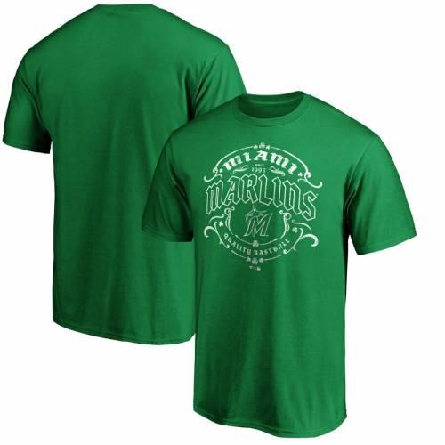 スポーツブランド カジュアル ファッション ファナティクス FANATICS BRANDED 当店は最高な 売買 サービスを提供します マイアミ マーリンズ Tシャツ 緑 ST. メンズファッション GREEN PATRICK'S TSHIRT DAY トップス グリーン カットソー TULLAMORE