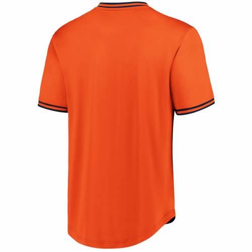 FANATICS BRANDED ヒューストン アストロズ ウォーク ブイネック Tシャツ メンズファッション トップス カットソー メンズ 【 Houston Astros Big And Tall Iconic Walk Off V-neck T-shirt - Navy/orange 】 Navy/ora