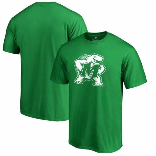 FANATICS BRANDED メリーランド 白 ホワイト ロゴ Tシャツ 緑 グリーン ST. PATRICK'S 【 WHITE GREEN FANATICS BRANDED MARYLAND TERRAPINS DAY LOGO TSHIRT 】 メンズファッション トップス Tシャツ カットソー