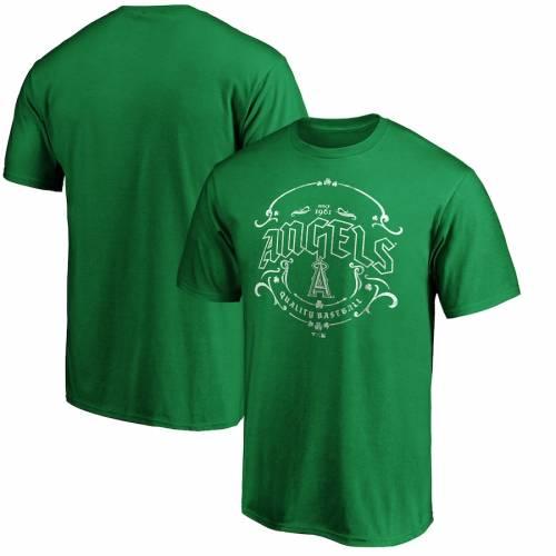 スポーツブランド カジュアル ファッション ファナティクス FANATICS BRANDED エンゼルス 日本 Tシャツ 緑 グリーン DAY ST. ロサンゼルス TSHIRT GREEN カットソー PATRICK'S TULLAMORE 内祝い メンズファッション トップス