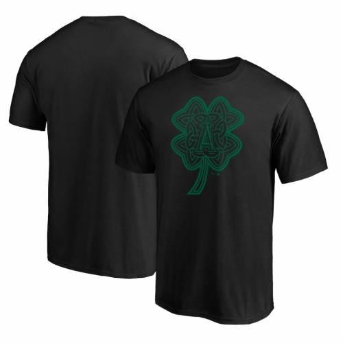 スポーツブランド カジュアル ファッション ファナティクス FANATICS BRANDED エンゼルス Tシャツ 黒色 ブラック ロサンゼルス 商品追加値下げ在庫復活 CHARM ST. PATRICK'S メンズファッション CELTIC BLACK トップス カットソー DAY 超定番 TSHIRT