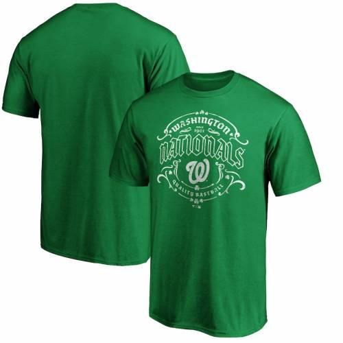 FANATICS BRANDED ワシントン ナショナルズ Tシャツ 緑 グリーン ST. PATRICK'S 【 GREEN FANATICS BRANDED WASHINGTON NATIONALS DAY TULLAMORE TSHIRT 】 メンズファッション トップス Tシャツ カットソー