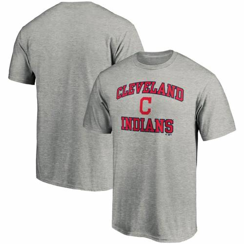 FANATICS BRANDED クリーブランド インディアンズ Tシャツ 赤 レッド メンズファッション トップス カットソー メンズ 【 Cleveland Indians Heart And Soul T-shirt - Red 】 Heather Gray