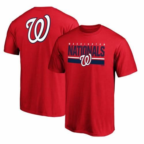 FANATICS BRANDED ワシントン ナショナルズ チーム ロゴ ゲーム Tシャツ 赤 レッド メンズファッション トップス カットソー メンズ 【 Washington Nationals Team Logo End Game T-shirt - Red 】 Red