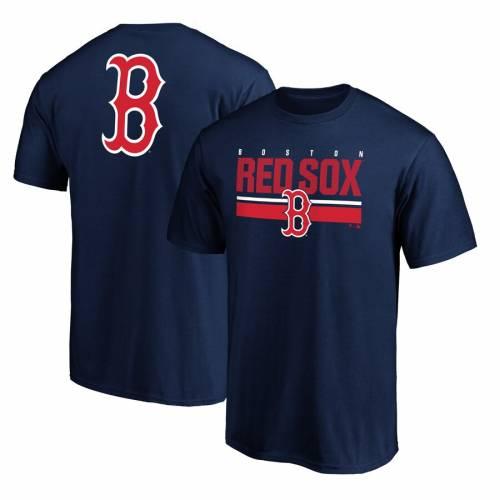 FANATICS BRANDED ボストン 赤 レッド チーム ロゴ ゲーム Tシャツ 紺 ネイビー メンズファッション トップス カットソー メンズ 【 Boston Red Sox Team Logo End Game T-shirt - Navy 】 Navy
