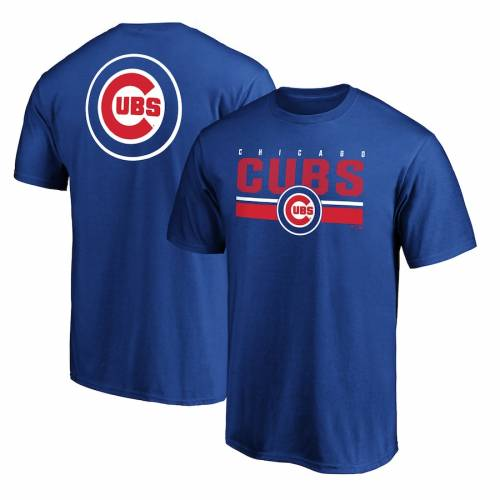 FANATICS BRANDED シカゴ カブス チーム ロゴ ゲーム Tシャツ メンズファッション トップス カットソー メンズ 【 Chicago Cubs Team Logo End Game T-shirt - Royal 】 Royal