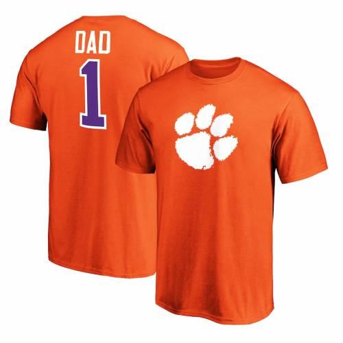 スポーツブランド カジュアル ファッション ファナティクス FANATICS BRANDED 当店は最高な サービスを提供します クレムソン タイガース 無料 Tシャツ TSHIRT DAD カットソー メンズファッション #1 ORANGE 橙 オレンジ トップス