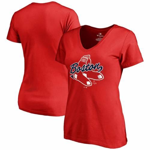 FANATICS BRANDED ボストン 赤 レッド レディース Tシャツ レディースファッション トップス カットソー 【 Boston Red Sox Womens Hometown T-shirt - Red 】 Red