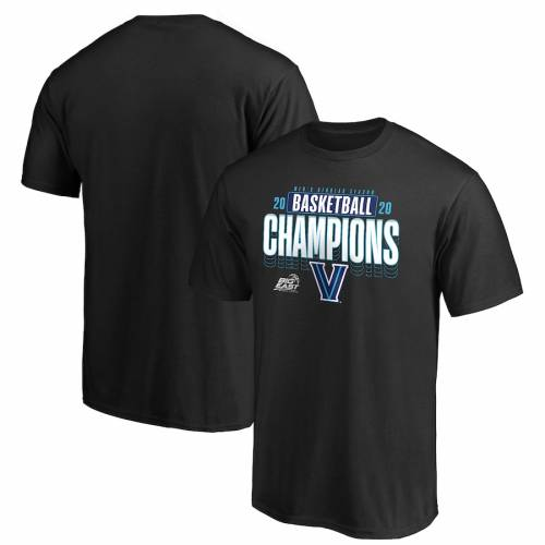 FANATICS BRANDED ビラノバ バスケットボール Tシャツ 黒 ブラック MEN'S 【 BLACK FANATICS BRANDED VILLANOVA WILDCATS 2020 BIG EAST BASKETBALL REGULAR SEASON CHAMPIONS TSHIRT 】 メンズファッション トップス Tシャツ
