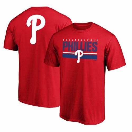 FANATICS BRANDED フィラデルフィア フィリーズ チーム ロゴ ゲーム Tシャツ 赤 レッド メンズファッション トップス カットソー メンズ 【 Philadelphia Phillies Team Logo End Game T-shirt - Red 】 Red