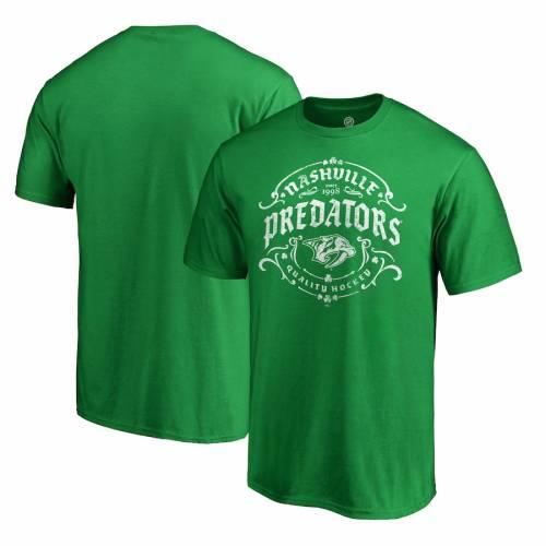 スポーツブランド カジュアル ファッション ファナティクス FANATICS BRANDED ナッシュビル プレデターズ Tシャツ 緑 トップス TSHIRT グリーン カットソー 超定番 GREEN DAY TULLAMORE PATRICK'S ST. メンズファッション 半額
