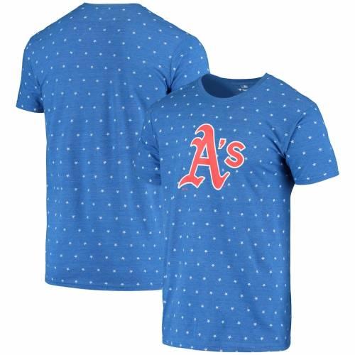 FANATICS BRANDED オークランド Tシャツ 青 ブルー メンズファッション トップス カットソー メンズ 【 Oakland Athletics Star Spangled Banner T-shirt - Blue 】 Blue