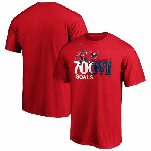 FANATICS BRANDED ワシントン Tシャツ 赤 レッド メンズファッション トップス カットソー メンズ 【 Alexander Ovechkin Washington Capitals 700 Goals T-shirt - Red 】 Red