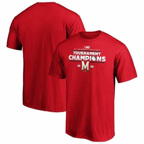 スポーツブランド カジュアル ファッション ファナティクス 激安通販ショッピング FANATICS BRANDED メリーランド テラピンズ レディース バスケットボール カンファレンス Tシャツ CHAMPIONS TEN BIG CONFERENCE レッド BASKETBALL RED TSHIRT 赤 WOMEN'S 2020 新着セール
