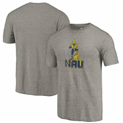FANATICS BRANDED アリゾナ カレッジ ロゴ Tシャツ 灰色 グレー グレイ メンズファッション トップス カットソー メンズ 【 Northern Arizona Lumberjacks College Vault Primary Logo Tri-blend T-shirt - Gray 】 Gray