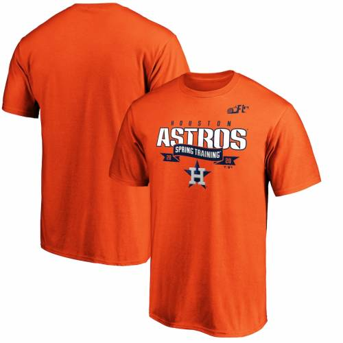 FANATICS BRANDED ヒューストン アストロズ スプリング トレーニング Tシャツ 橙 オレンジ メンズファッション トップス カットソー メンズ 【 Houston Astros 2020 Spring Training Line Drive T-shirt - Orang