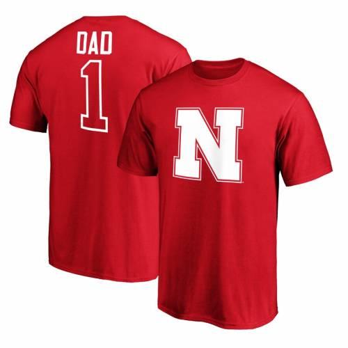スポーツブランド カジュアル ファッション ファナティクス FANATICS BRANDED ネブラスカ Tシャツ #1 トップス SCARLET メンズファッション NEBRASKA カットソー TSHIRT DAD 商品 HUSKERS 即出荷