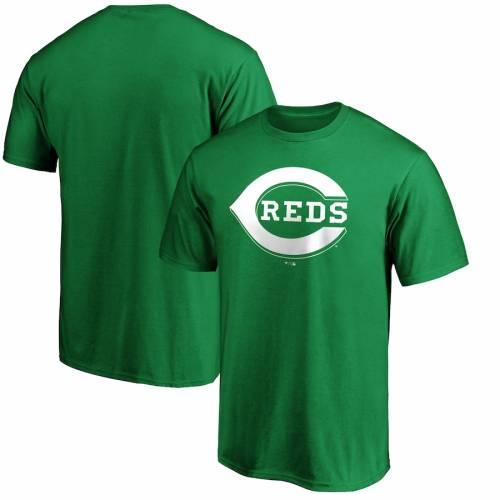 スポーツブランド カジュアル ファッション ファナティクス FANATICS 登場大人気アイテム BRANDED シンシナティ レッズ 白色 ホワイト ロゴ Tシャツ トップス PATRICK'S カッ WHITE 緑 メンズファッション LOGO GREEN ST. グリーン 初回限定 TSHIRT DAY