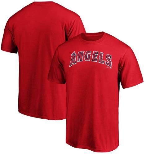 スポーツブランド カジュアル ファッション ファナティクス FANATICS BRANDED エンゼルス Tシャツ 赤 メンズファッション RED OFFICIAL カットソー TSHIRT トップス 手数料無料 70%OFFアウトレット WORDMARK ロサンゼルス レッド