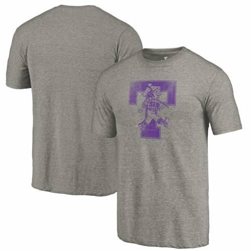 FANATICS BRANDED ステファン カレッジ ロゴ Tシャツ 灰色 グレー グレイ メンズファッション トップス カットソー メンズ 【 Stephen F Austin Lumberjacks College Vault Primary Logo Tri-blend T-shirt - Gray 】 G